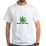 Smokin the Green (pot) White T-Shirt