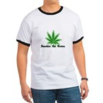 Smokin the Green (pot) Ringer T