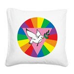 R-Dove-Rainbow-Dove.png Square Canvas Pillow