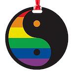YY-Rainbow-Yin-Yang-Symbol-.png Round Ornament