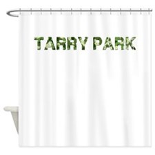 Tarry Park, Vintage Camo, Shower Curtain