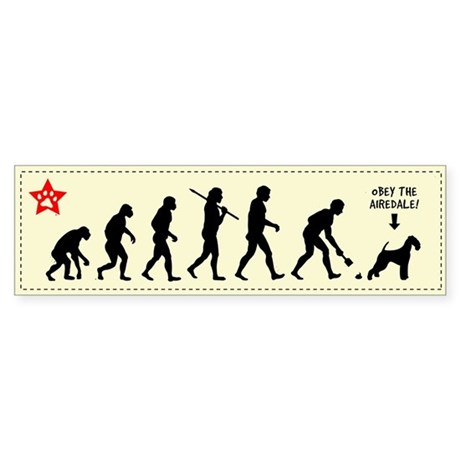 AIREDALE Evolution - Dog Bumper Sticker