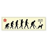 AIREDALE Evolution - Dog Bumper Bumper Sticker