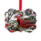 Winter Cardinal Picture Ornament