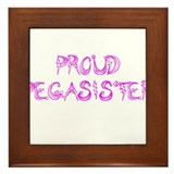 Proud Pegasister Framed Tile