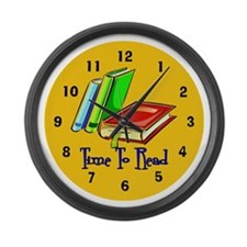 Cute Libraries Large Wall Clock