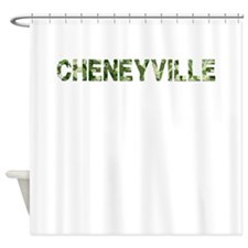 Cheneyville, Vintage Camo, Shower Curtain