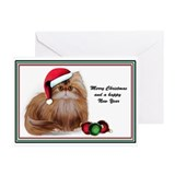 Christmas Persian Cat Card Greeting Cards (Pk of 2