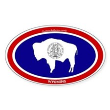 Wyoming State flag oval Decal