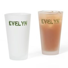 Evelyn, Vintage Camo, Drinking Glass