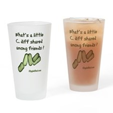 Unique C. diff Drinking Glass