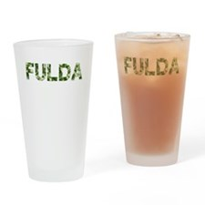 Fulda, Vintage Camo, Drinking Glass