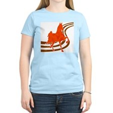 Retro Saddlebred Women's Pink T-Shirt