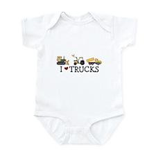 I Love Trucks Infant Bodysuit