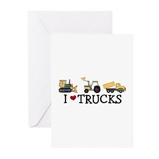 I Love Trucks Greeting Cards (Pk of 10)