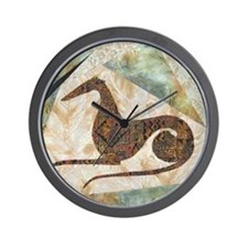 Funny Art quilt Wall Clock
