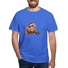 Persian Cat with Christmas Balls T-Shirt