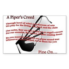 Piper's Creed (White) Decal