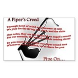Piper's Creed (White) Stickers