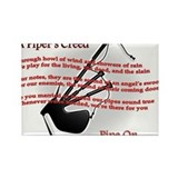 Piper's Creed (White) Rectangle Magnet