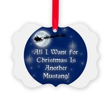 Cute Mustang Ornament
