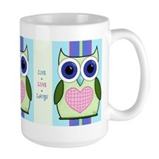 Large OWL MUG with art by Andi Metz
