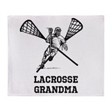 Lacrosse Grandma Throw Blanket