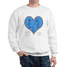 Handprints on your heart - 7 kids Sweatshirt