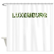 Luxemburg, Vintage Camo, Shower Curtain