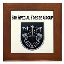 5th Special Forces Group Framed Tile