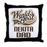 Nekita Dog Dad Throw Pillow