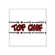 "Top Chef Square Sticker 3"" x 3"""