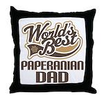 Paperanian Dog Dad Throw Pillow