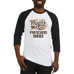 Papichon Dog Dad Baseball Jersey