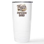 Papichon Dog Dad Ceramic Travel Mug