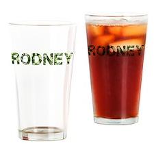Rodney, Vintage Camo, Drinking Glass