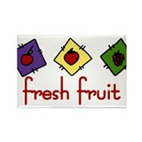 Fresh Fruit Rectangle Magnet