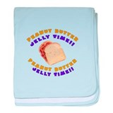 Peanut Butter Jelly Time baby blanket