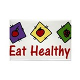 Eat Healthy Rectangle Magnet