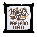 Papi-Poo Dog Dad Throw Pillow