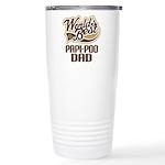 Papi-Poo Dog Dad Ceramic Travel Mug