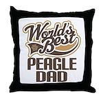 Peagle Dog Dad Throw Pillow