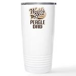 Peagle Dog Dad Ceramic Travel Mug