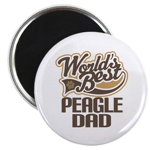 Peagle Dog Dad Magnet