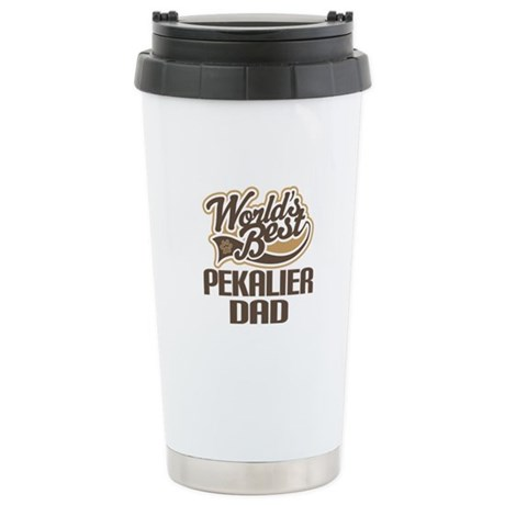 Pekalier Dog Dad Ceramic Travel Mug