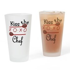 Kiss The Chef Drinking Glass
