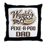 Peke-A-Poo Dog Dad Throw Pillow