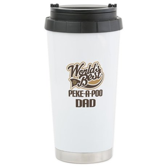 Peke-A-Poo Dog Dad Ceramic Travel Mug