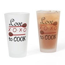 Love To Cook Drinking Glass