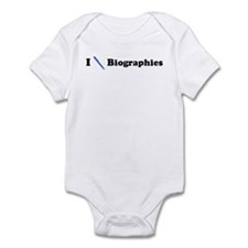 I Write Biographies Infant Bodysuit